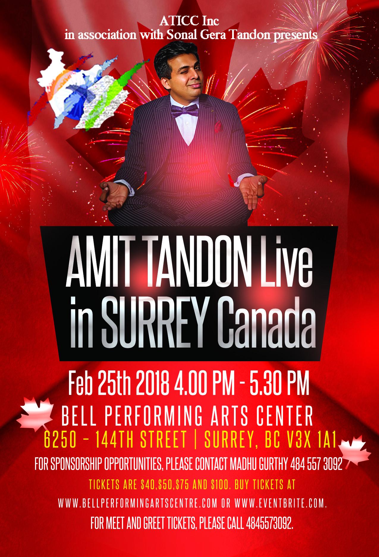 Amit Tandon Live in Surrey !